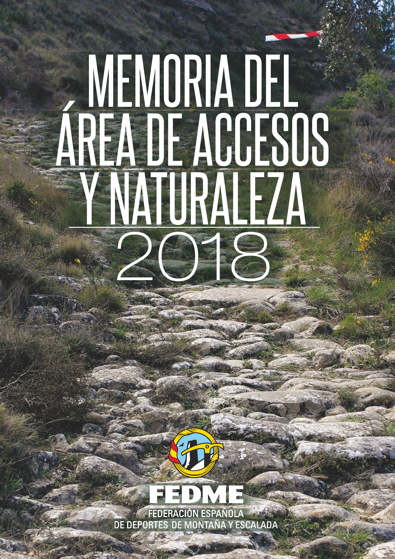 Portada MEMORIA ACCESOS y Naturaleza2018